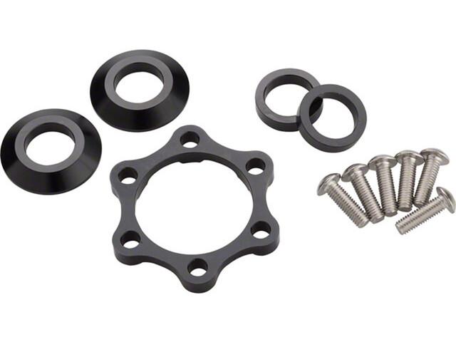 Problem Solvers Booster Kit Entretoises pour moyeux avant 6 mm, silver/black